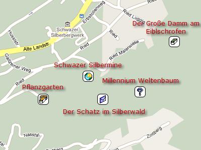 Schatzstellen im Silberwald